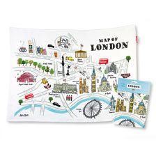 Geschirrtuch 'Maop of London'        bestellen - THE BRITISH SHOP - typisch englisches Produkt 'very british'