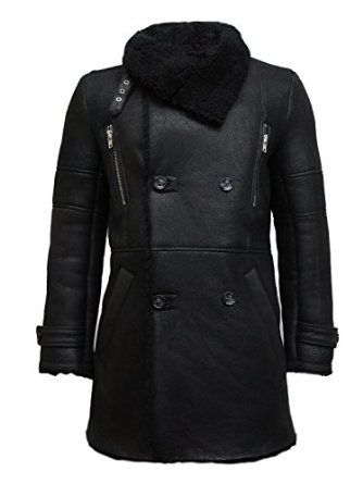 UK Vintage Men's Luxury Sheepskin Pea Coat German Navy Long Duffle Coat Ideal For Winter Latest Design Price: £699.00 Sale: £399.00 You Save: £300.00 (42%)