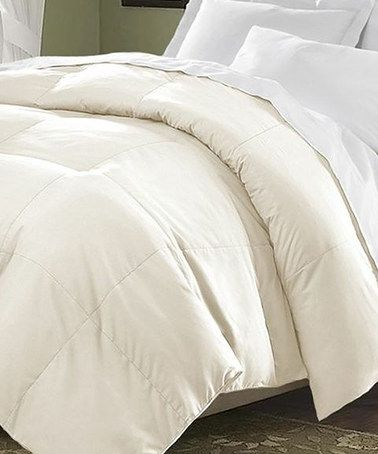 Loving this Ivory Classic Oversized Comforter on #zulily! #zulilyfinds