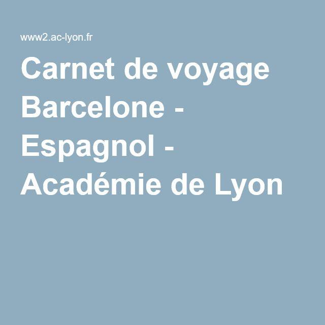 Les 25 meilleures id es de la cat gorie espagnol barcelone for Carnet de voyage restaurant lyon