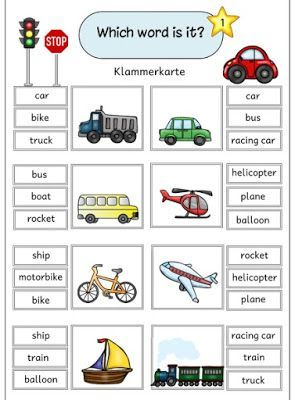 "Ideenreise: Klammerkarten ""vehicles"""