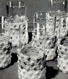 Glass Jackets pattern from The Magic of Crochet, originally published by Spool Cotton Company, Book 168, in 1941.