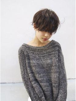 ナヌーク シブヤ(nanuk shibuya) 【nanuk】前髪重ためマッシュショート × 黒髪