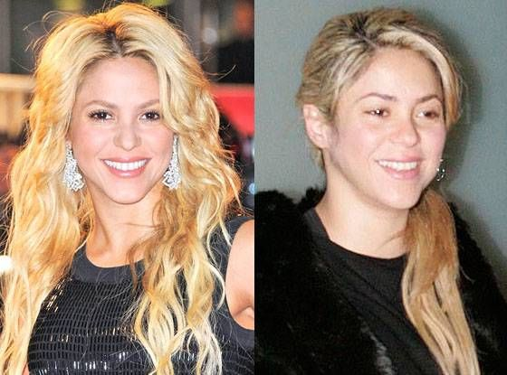 Shakira from Stars Without Makeup