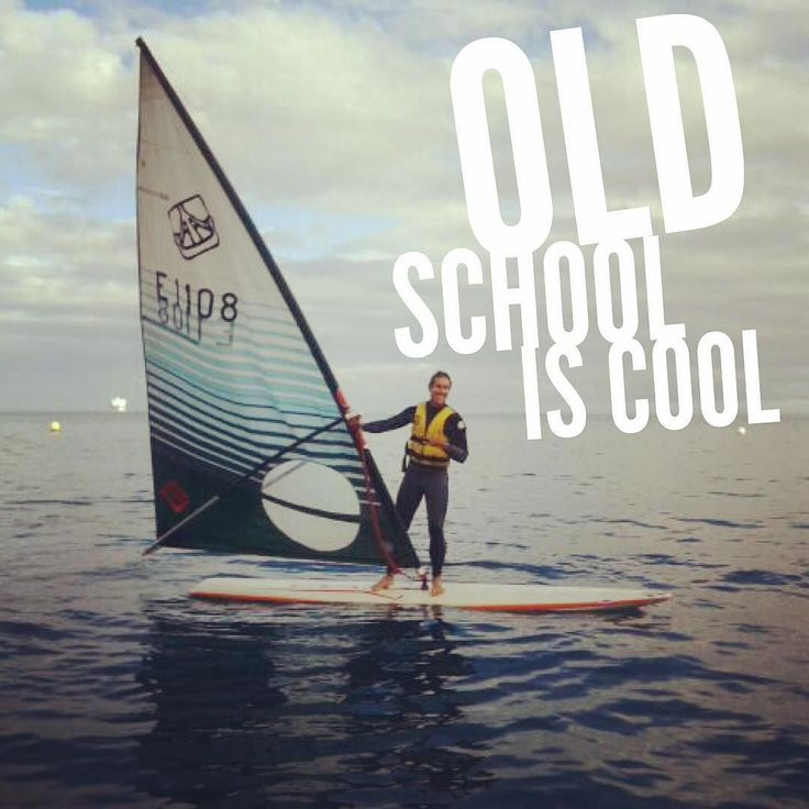 Old school is cool #windsurf #windsurfing #oldschool Do you agree?