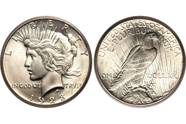 Looking to see how much your Peace Silver Dollar is worth? This page lists coin values and prices for Peace Dollars minted from 1921 to 1935.
