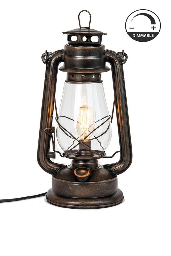 Electric Lantern Table Lamp With Variable Dimming Controller Etsy Electric Lanterns Lantern Table Lamp Oil Lantern