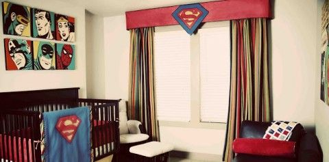 Superhero Room nursery-- someday if I have a son