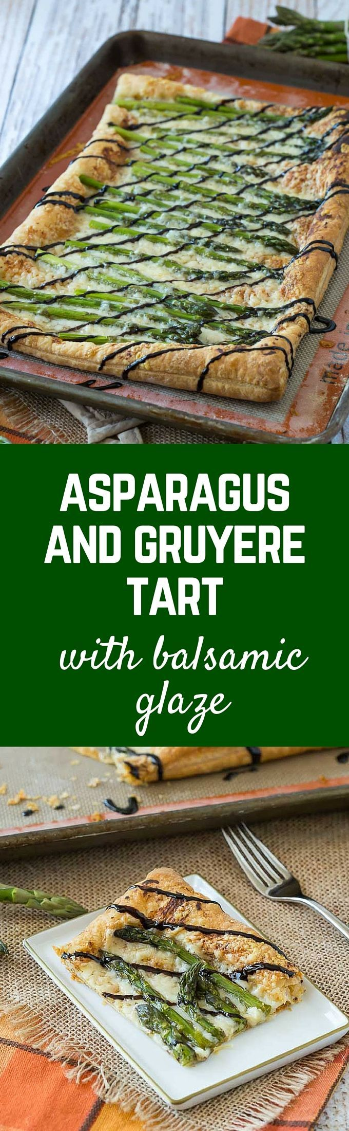 Asparagus Gruy�re Tart With Balsamic Glaze