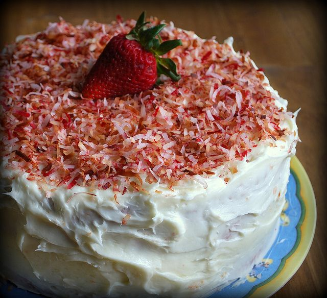 Southern Style Strawberry Cake with Coconut Cream Cheese Frosting ...