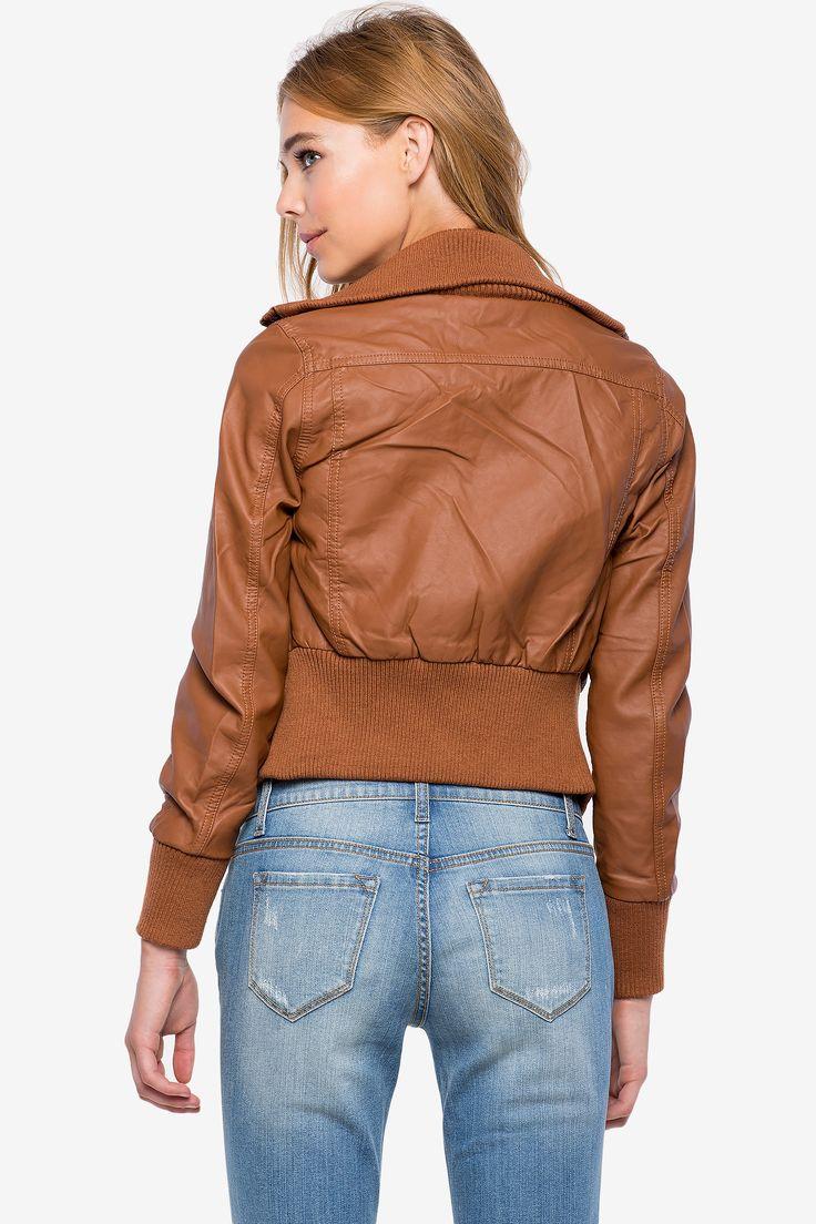 Куртка Размеры: S, M, L Цвет: черный, коричневый Цена: 1802 руб.  #одежда #женщинам #куртки #коопт