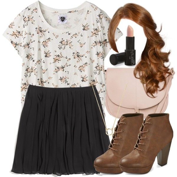Lydia Inspired Orientation Outfit by veterization on Polyvore featuring Zoe Tee's, Madewell, Naf Naf and Mossimo Supply Co.