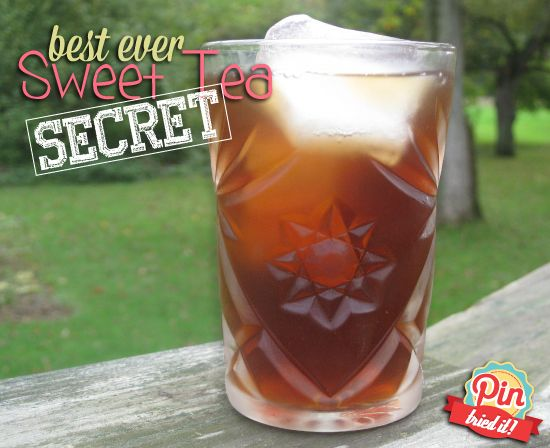 The Secret Recipe for the Best Sweet Tea Ever! - PinTriedIt.       Hummmmm.........I am a southern girl and I do LOVE my tea.  I may consider trying this soon.
