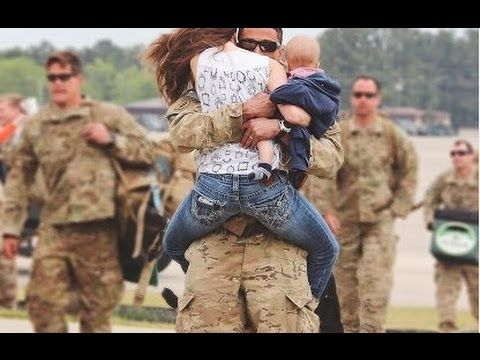 Soldiers return home from deployment to surprise their families and pets in this compilation. Welcome Home Soldiers! . New Compilation Videos Every Day! I cl...you will cry this is my family