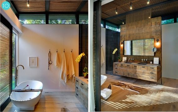 Gorgeous ♥♡♥: Deco Bathroom, Dreams, Wood Bathroom, Open Bathroom, De Bain, Bain Bois, Modern House, Wooden Bathroom, Room