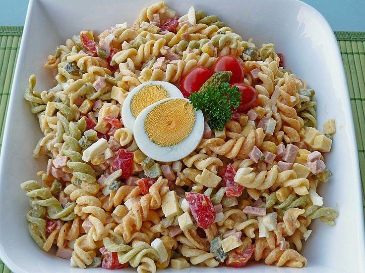 Zutaten    250 g Nudeln (Spiralnudeln)  250 g Salatcreme (Miracel Whip) Balance  200 g Fleischwurst oder 4 Wiener Würstchen  200 g...
