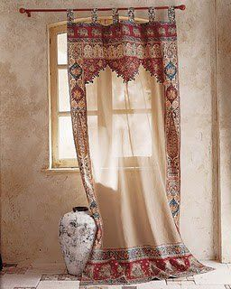 Moroccan Decor, light neutral colors with just a splash of bright colors