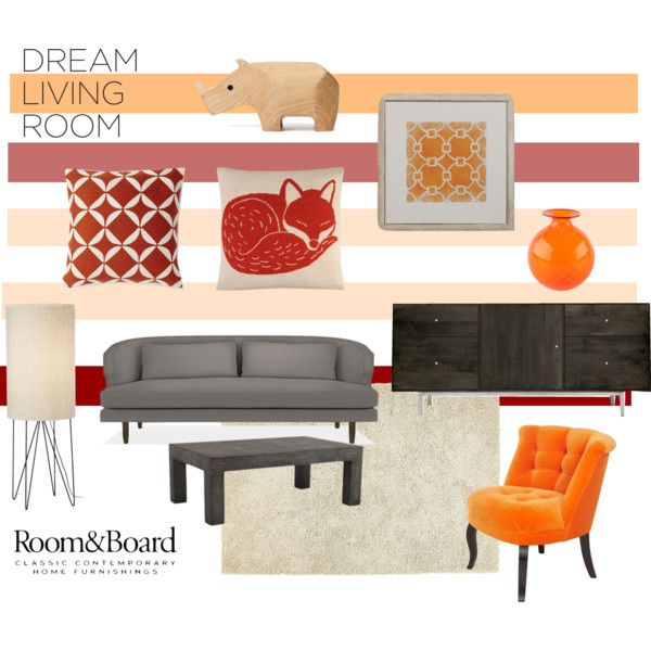 """Room & Board Dream Living Room Contest Entry"" by anna-roura-corbella on Polyvore"