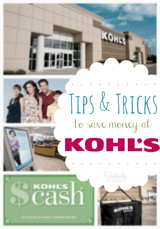 See Kohl's coupon codes! Plus, tons of tips and tricks to help you save money at Kohl's!