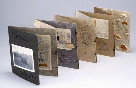 Memoria Technica  Mixed media artist's book--sewn accordion