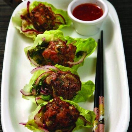 ? Turkey balls in lettuce wraps