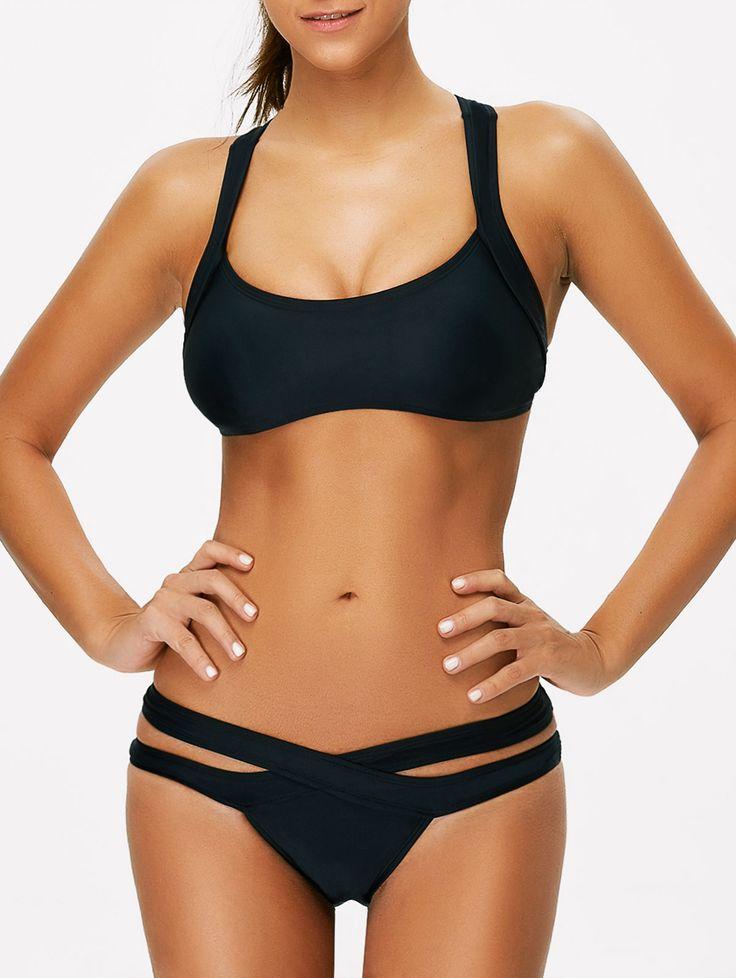 Criss Cross Hollow Out Sporty Bikini