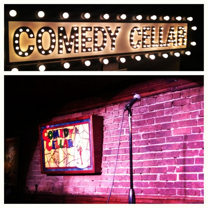 As it says above the door - Comedy Cellar in New York, NY