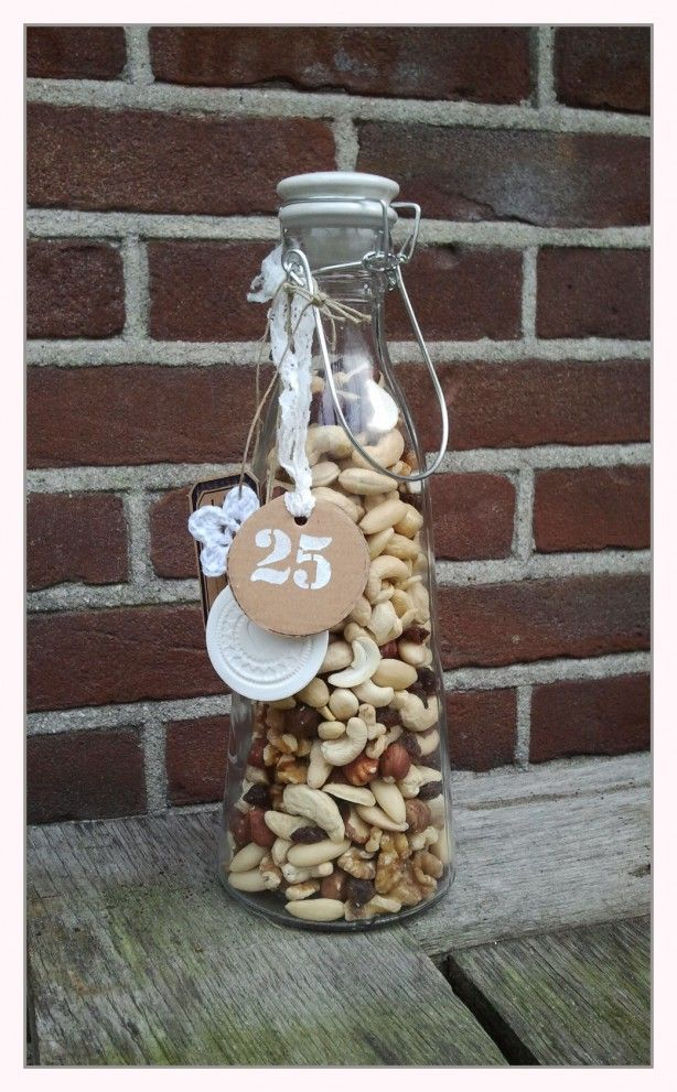 Great non alcoholic gift instead of wine mixed nuts in a bottle