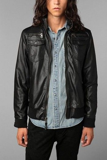 Charles & 1/2 Faux Leather Moto Jacket worn by Caleb on #Ravenswood http://www.pradux.com/charles-1-2-faux-leather-moto-jacket-20775?q=s51