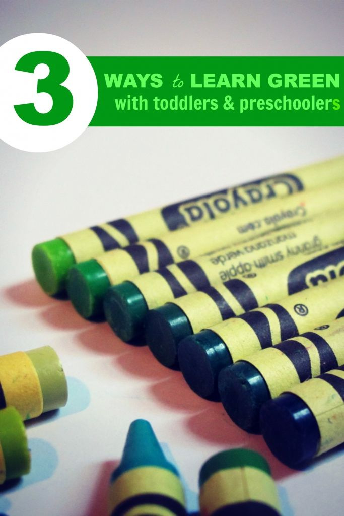 In the spirit of St. Patrick's Day, this post includes 3 different ideas for discovering the color Green with your toddlers & preschoolers.