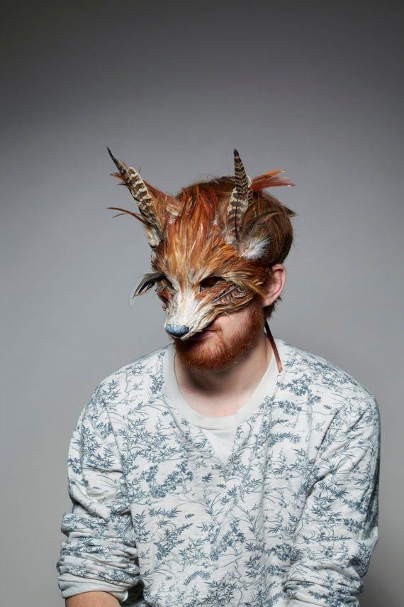Handgemachte Rotfuchs Wald Fuchs Maske, Maske Festival Fox Kopfschmuck, Karneval Maske, Fantastic Mr Fox Maske
