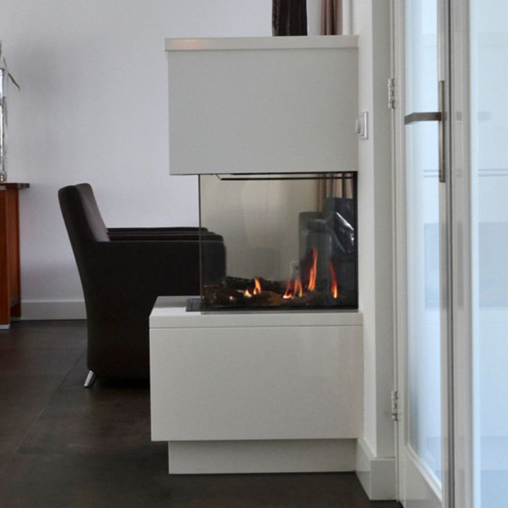 Room-divider gashaard met hoogglans haardmeubel 2