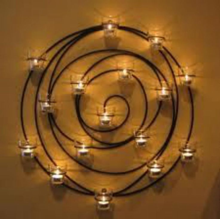 FOR RICK -  Wrought Iron Circle Large Candle Votive Wall Decor - RETIRED PIECE #PotteryBarn