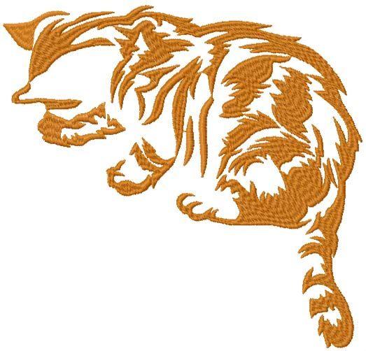 Cat free machine embroidery design
