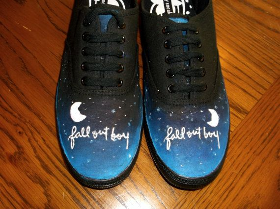 Fall Out Boy Shoes    Hand Painted (Really pretty, but not one thing I really need.... ;) )