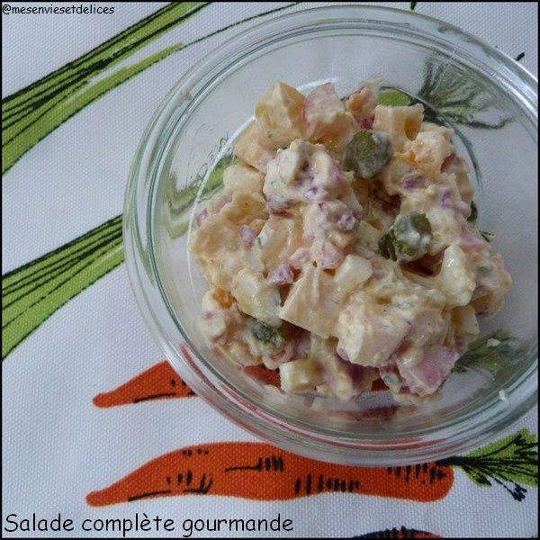 Salade complète gourmande
