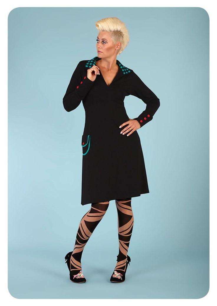 Køb Margot kjole Miss Motown 00570 hos denckerdeluxe