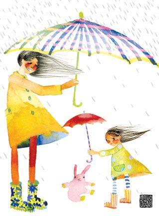 wind and umbrellas
