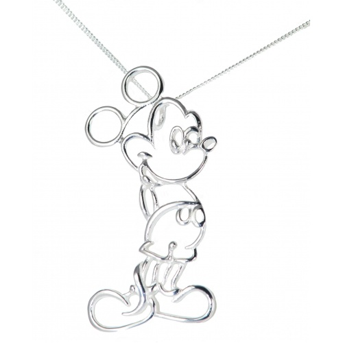 Mickey Mouse Outline Necklace