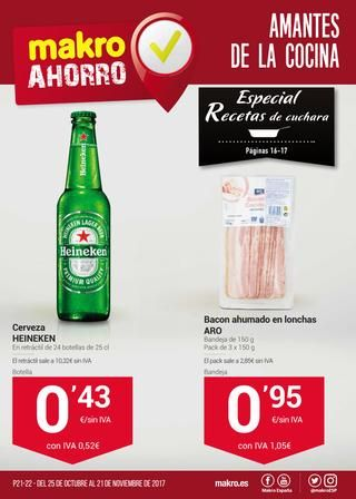 Catálogo Makro ahorro para amantes de la cocina del 25 de octubre  al 21 de noviembre -  Folleto de ofertas válido del 25 de octubre al 21 de noviembre de 2017. Destacamos la oferta Heineken por 0,43€+IVA, si quieres pásate por el artículo de cervezas Carrefour para ver sus precios.    #CatálogosMakro, #Catálogosonline  #Heineken Ver en la web : https://ofertassupermercados.es/catalogo-makro-ahorro-para-amantes-de-la-cocina-del-25-de-octubre-al-21-de-noviembre/