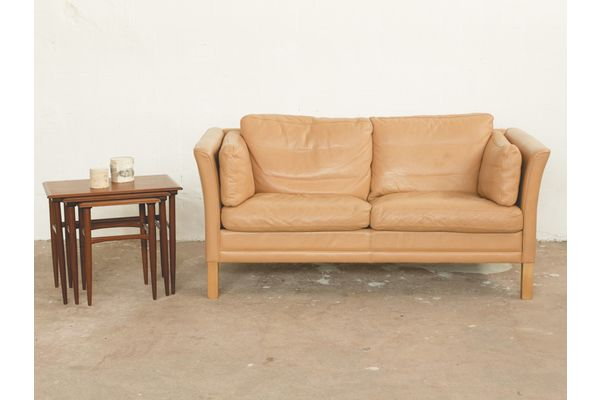 2 Seater Sofa In Leather By Mogens Hansen | vinterior.co