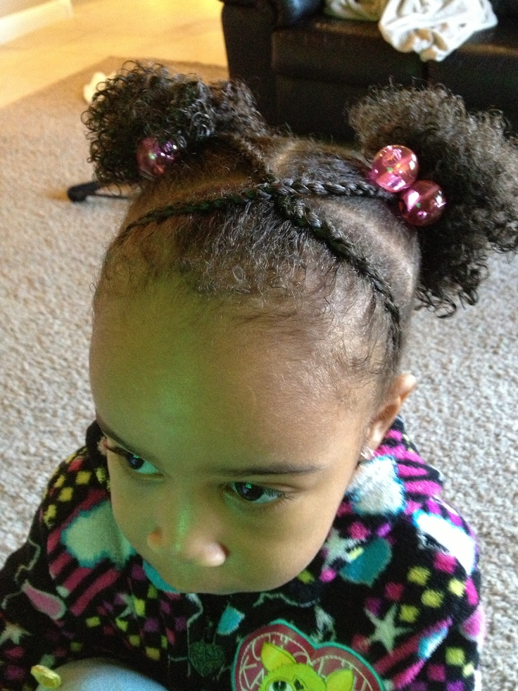 Crossing Cornrow Bangs W Afro Puffs Kids Hairstyles