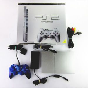a ps2 consola slim line plata similares mando cable en emborig playstation 2