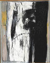 838/643 - Preben Hornung: Komposition. Usigneret. Olie på lærred. 101 x 82.