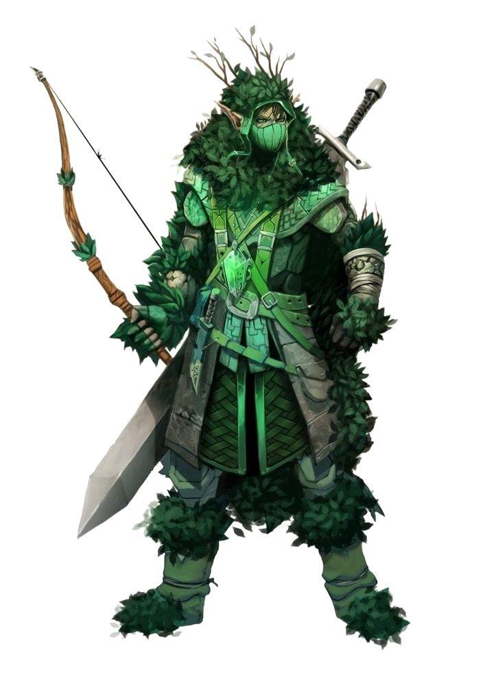 Male Elf Forest Camouflage Ranger Pathfinder Pfrpg Dnd D