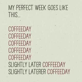 This is our kind of week! Happy #MondayCoffeeSmiles :)