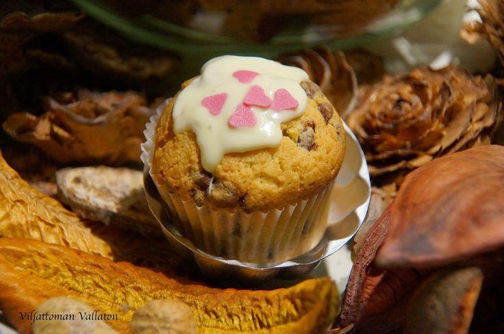 Viljattoman Vallaton: Gluteenittomat suklaahippumuffinssit