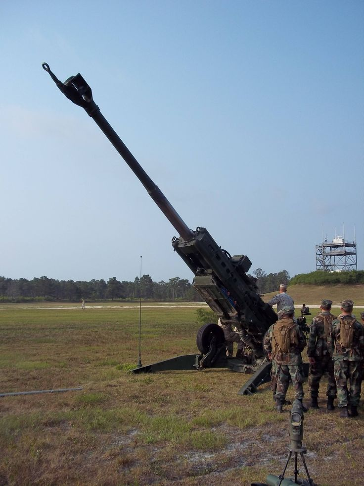 An M777 Howitzer at Camp Lejeune