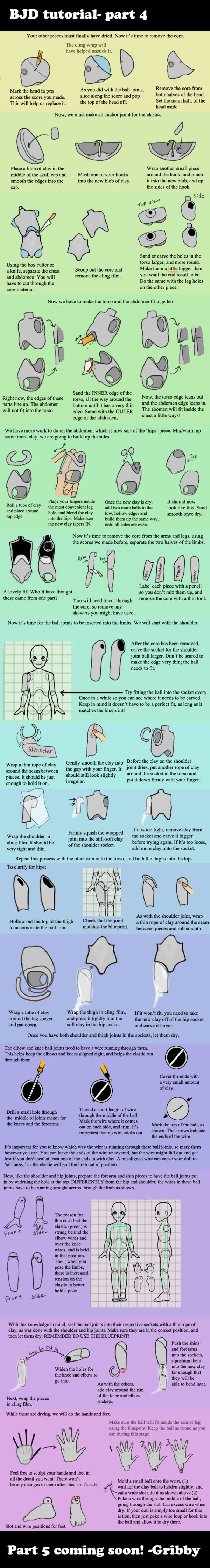 Ball jointed doll tutorial part 4 by *Deskleaves on deviantART by diana
