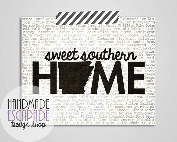 Arkansas Sweet 8x10 or 11x14 Art Print by HandmadeEscapade on Etsy, $15.50: